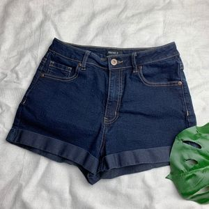 Forever 21 Dark Denim High Waist Shorts • Size 24